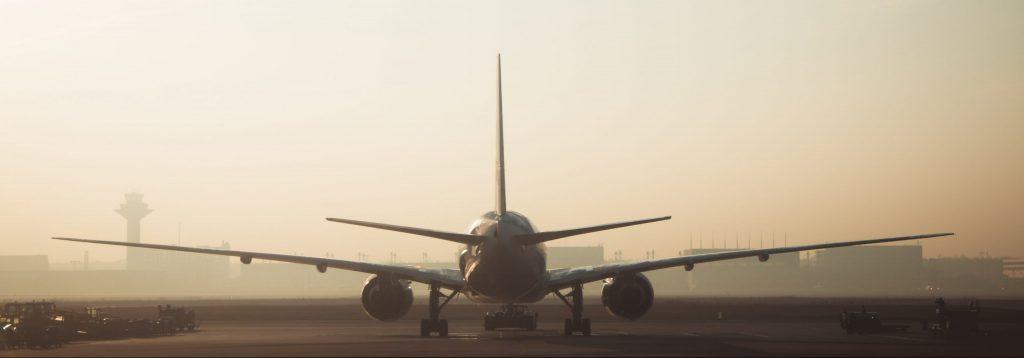 Aircraft on a runway